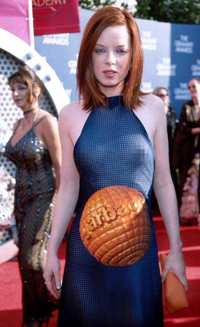 Shirley Manson at the 1999 Grammys (Photo: Getty Images)