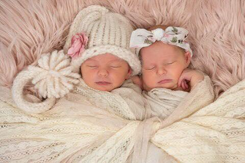 Twin girls Violet and Indiana who died in Brisbane in a co-sleeping accident.