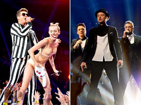 """Miley Cyrus' Team """"Freaking Out"""" After MTV VMAs Performance, Justin Timberlake's 'N Sync Bandmates """"Upset"""": Top 5 Stories"""