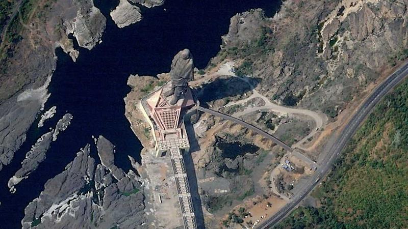 India's Statue of Unity visible from outer space but not on Google Earth