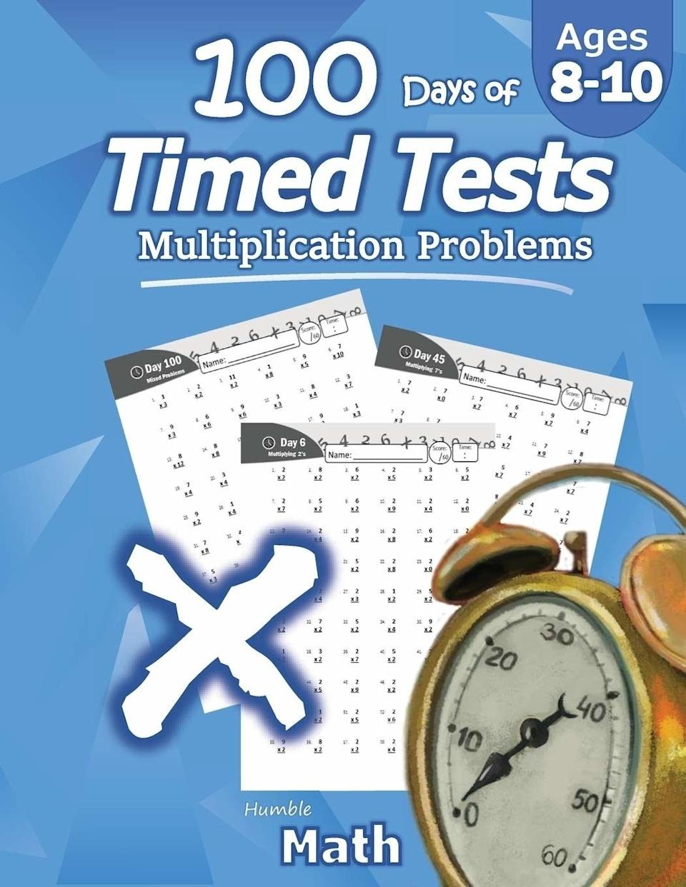 """These are perfect for kids working on multiplication who could use a new take on times tables.<br /><br /><strong>Promising review:</strong>""""My son has loved using this book to improve his math skills. We put it in a binder with some<a href=""""https://www.amazon.com/1884309-Low-Odor-Markers-Assorted-8-Count/dp/B00I8OBAOU?&linkCode=ll1&tag=huffpost-bfsyndication-20&linkId=059319aa79d7d5d21fc059aa7265f3f7&language=en_US&ref_=as_li_ss_tl"""" target=""""_blank"""" rel=""""nofollow noopener noreferrer"""" data-skimlinks-tracking=""""5750537"""" data-vars-affiliate=""""Amazon"""" data-vars-asin=""""B00I8OBAOU"""" data-vars-href=""""https://www.amazon.com/dp/B00I8OBAOU?tag=bfmal-20&ascsubtag=5750537%2C26%2C33%2Cmobile_web%2C0%2C0%2C16108518"""" data-vars-keywords=""""cleaning,fast fashion,skincare"""" data-vars-link-id=""""16108518"""" data-vars-price="""""""" data-vars-product-id=""""17899637"""" data-vars-product-img=""""https://m.media-amazon.com/images/I/51QQ7jEBAzL.jpg"""" data-vars-product-title=""""EXPO 1884309 Low-Odor Dry Erase Markers, Ultra Fine Tip, Assorted Colors, 8-Count"""" data-vars-retailers=""""Amazon"""">dry erase markers</a>so it can be used over and over, which is especially helpful on pages he has trouble with. He likes to time himself to see how much he's improved! Highly recommend!"""" —<a href=""""https://www.amazon.com/gp/customer-reviews/R229H902MTXZ05?&linkCode=ll2&tag=huffpost-bfsyndication-20&linkId=80dd96c84f7a3bc4c1a30487710a0502&language=en_US&ref_=as_li_ss_tl"""" target=""""_blank"""" rel=""""nofollow noopener noreferrer"""" data-skimlinks-tracking=""""5750537"""" data-vars-affiliate=""""Amazon"""" data-vars-href=""""https://www.amazon.com/gp/customer-reviews/R229H902MTXZ05?tag=bfmal-20&ascsubtag=5750537%2C26%2C33%2Cmobile_web%2C0%2C0%2C0"""" data-vars-keywords=""""cleaning,fast fashion,skincare"""" data-vars-link-id=""""0"""" data-vars-price="""""""" data-vars-retailers=""""Amazon"""">Jessika C</a><br /><br /><strong>Get them from Amazon for<a href=""""https://www.amazon.com/Humble-Math-Multiplication-Reproducible-Practice/dp/1635783011?&linkCode=ll1&tag=huffpost-bfsyndication-20&lin"""