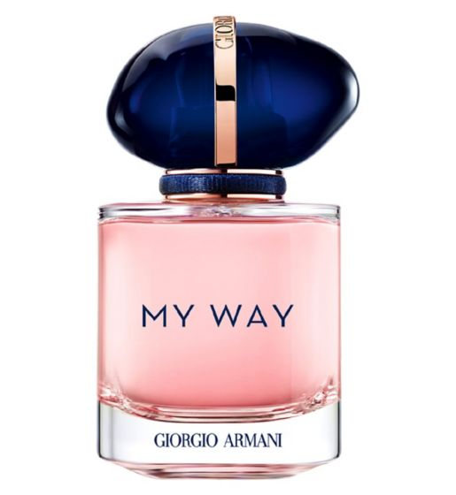 """This perfume is refillable, so it already wins points for sustainability. While fresh and sprightly orange blossom is the first distinguishable note, it becomes cosy, enveloping and a little bit sensual with sweet vanilla, creamy cedarwood and white musk taking hold. <br><br><strong>Giorgio Armani</strong> My Way Eau de Parfum 30ml Refillable, $, available at <a href=""""https://www.boots.com/giorgio-armani-my-way-eau-de-parfum-30ml-refillable-10279631"""" rel=""""nofollow noopener"""" target=""""_blank"""" data-ylk=""""slk:Boots"""" class=""""link rapid-noclick-resp"""">Boots</a>"""