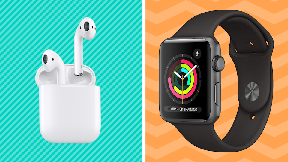 The best sales this weekend are right here—like save on Apple AirPods and Apple Watch Series 3. (Photo: Amazon)