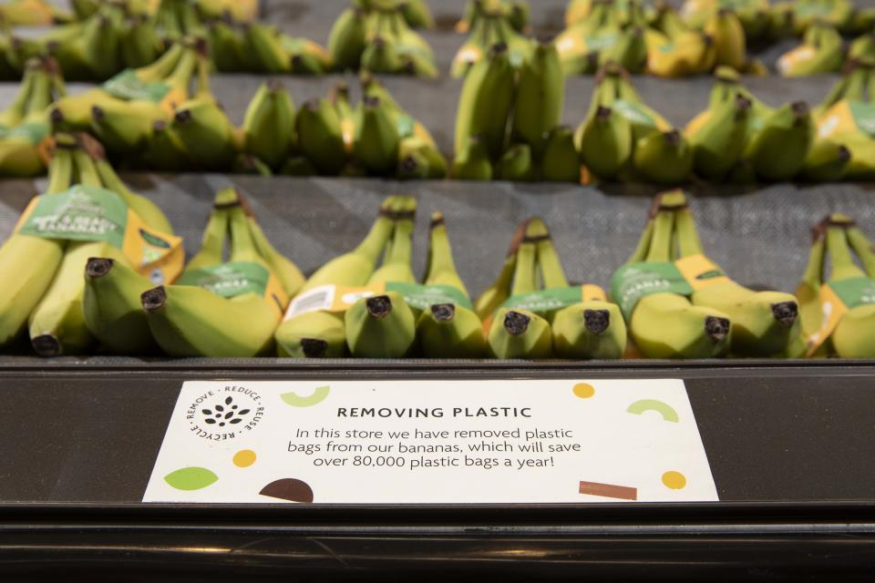 Morrisons to ban plastic packaging from all bananas, York, 20th September 2021