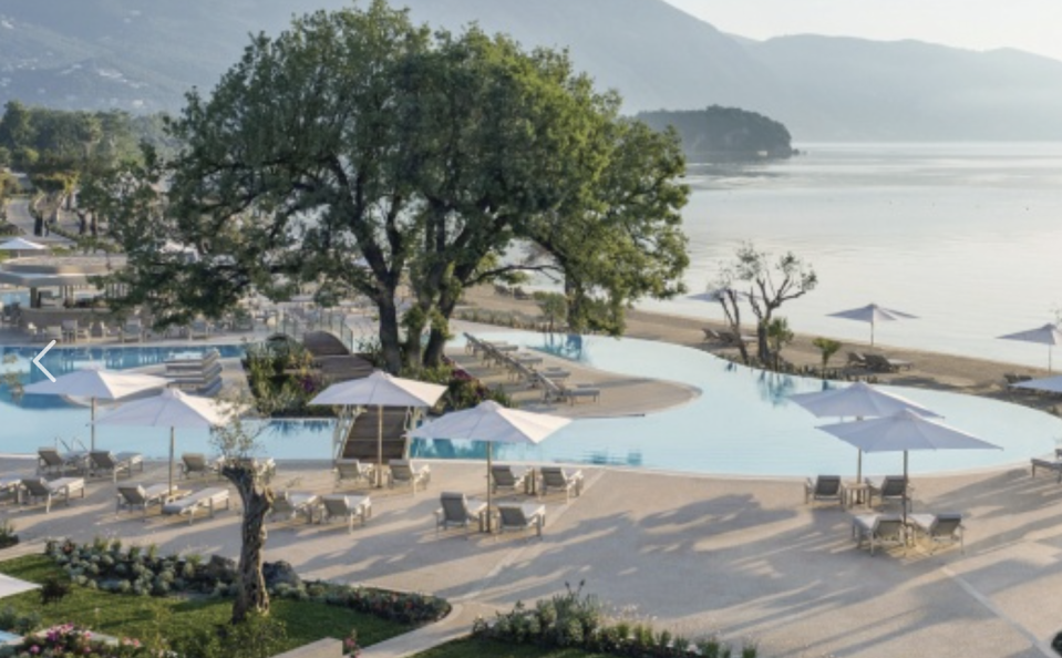 """<p>Seated on Corfu's Ionian coast, <a href=""""https://ikosresorts.com/resorts/ikos-dassia/"""" rel=""""nofollow noopener"""" target=""""_blank"""" data-ylk=""""slk:Ikos Dassia"""" class=""""link rapid-noclick-resp"""">Ikos Dassia</a> is considered one of the best all-inclusive luxury resorts in Europe, if not the world. Featuring six unique restaurants, spacious accommodations that feel like true sanctuaries, and private white-sand beaches, this Ikos Hotels property can't be beat. And the resort is home to all the wellness programming and nightlife we've come to expect from Greek vacations while still being fun for all ages.</p><p>""""The family-friendly resort encompasses the Greek and Italian influences that make the island of Corfu unique,"""" says Seetha Ramanathan, a Reco trip designer with extensive expertise in Greece.<br></p>"""