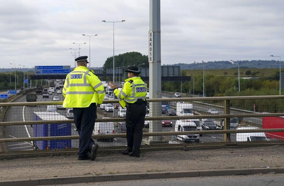 Two more arrested have been made by police investigating protests which blocked the M25 five times in the past two weeks (Steve Parsons/PA) (PA Wire)