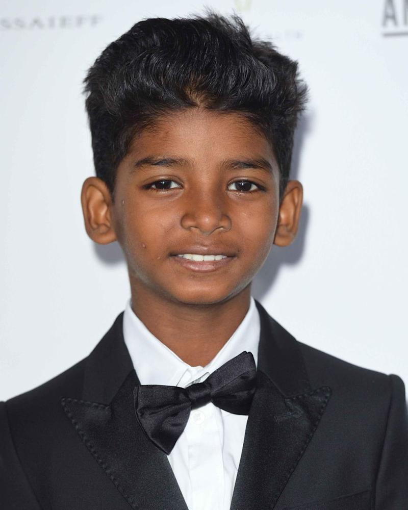 Sunny Pawar (here in London in May 2017) won the AACTA award for Best Lead Actor. Source: Getty