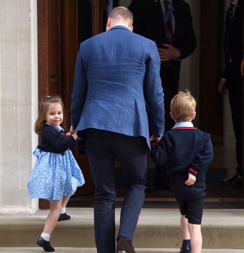 Prince George and Princess Charlotte go into the Lindo Wing