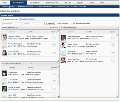 Part of Cornerstone OnDemand's recruiting solution, the new Interview Management feature allows recr ...
