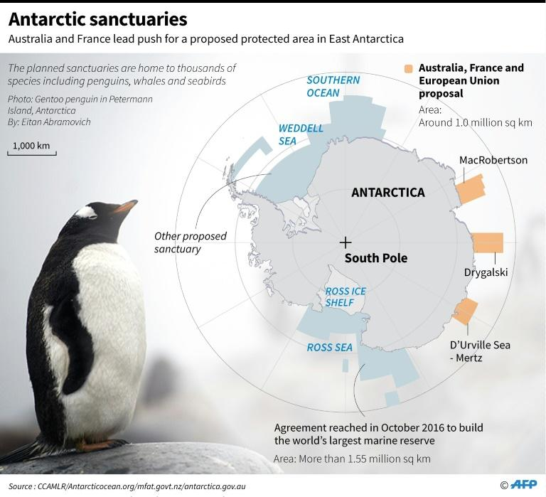 Graphic showing marine sanctuary plans for Antarctica