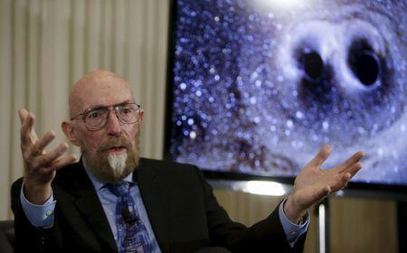 Dr. Kip Thorne of Caltech makes his closing remarks during a news conference to discuss the detection of gravitational waves, ripples in space and time hypothesized by physicist Albert Einstein a century ago, in Washington February 11, 2016. REUTERS/Gary Cameron