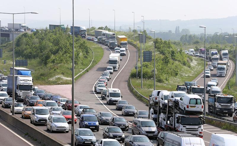 Queues are expected this weekend along the M25 for the summer getaway (Picture: PA)