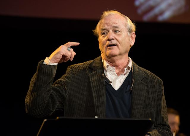 Bill Murray, pictured in October, isknown for surprising acts of generosity.