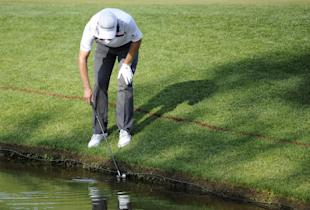 Justin Rose overcame a mistake on the 18th hole to win the Quicken Loans National in a playoff. (AP)
