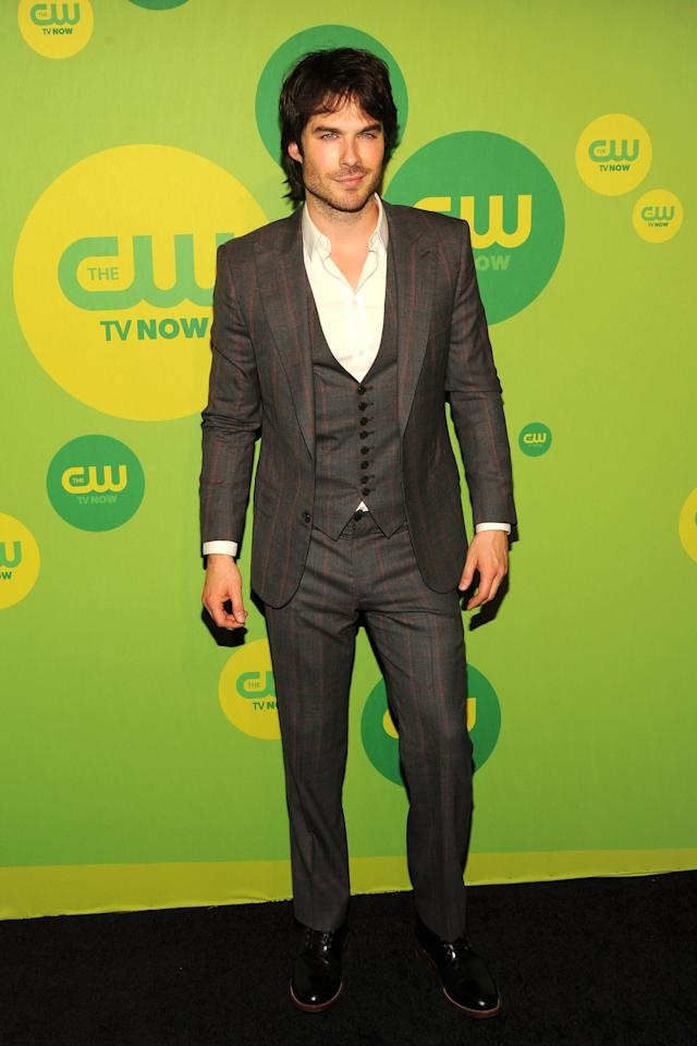 NEW YORK, NY - MAY 16:  Actor Ian Somerhalder attends The CW Network's New York 2013 Upfront Presentation at The London Hotel on May 16, 2013 in New York City.  (Photo by Ben Gabbe/Getty Images)