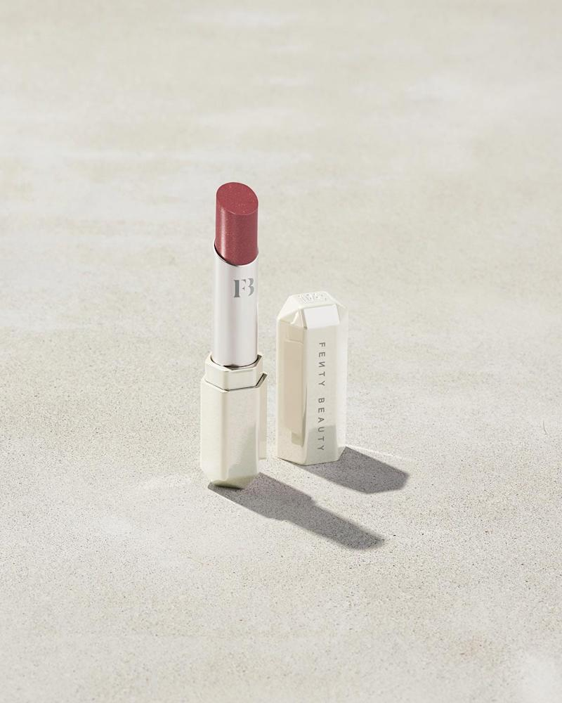 Slip Shine Sheer Shiny Lipstick in Goji Gang. Image via Fenty Beauty.