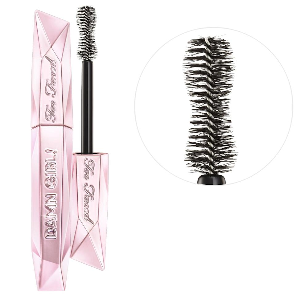 """<p><strong>Item:</strong> <span>Too Faced Damn Girl! 24-Hour Mascara</span> ($13-$25)</p> <p><strong>What our editor said:</strong> """"WHO IS SHE? When I applied this mascara, I actually started grinning - I was giddy with how well it applied . . . Damn Girl! seems to grab each and every lash on your lash line so that your lash line appears fuller."""" - Kirbie Johnson, contributing beauty writer</p> <p>If you want to read more, here is <a href=""""https://www.popsugar.com/beauty/Too-Faced-Damn-Girl-Mascara-46219219"""" class=""""link rapid-noclick-resp"""" rel=""""nofollow noopener"""" target=""""_blank"""" data-ylk=""""slk:the complete review"""">the complete review</a>.</p>"""