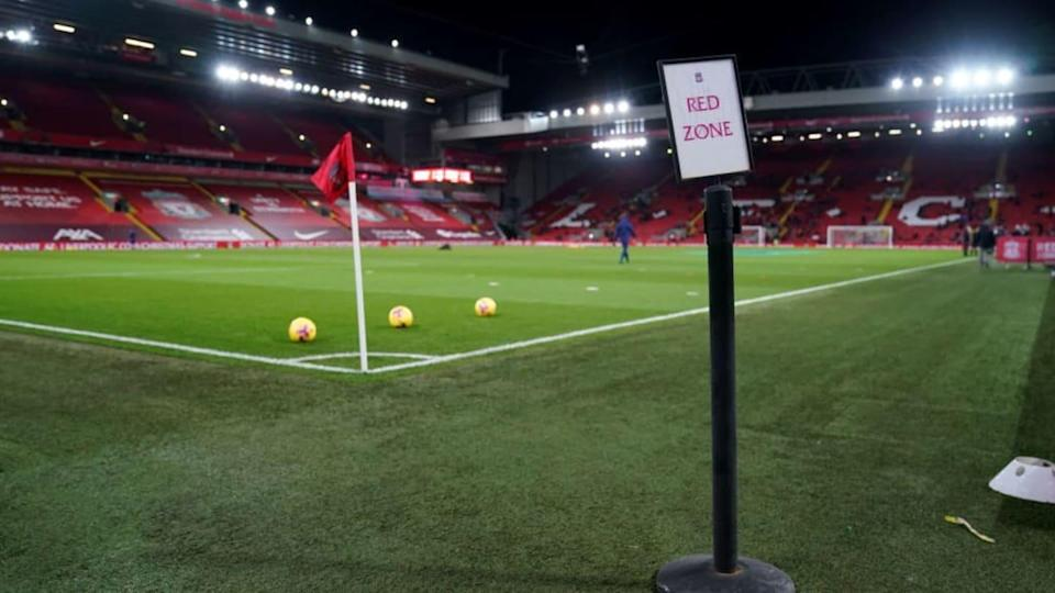 Champions League em Anfield.   Pool/Getty Images