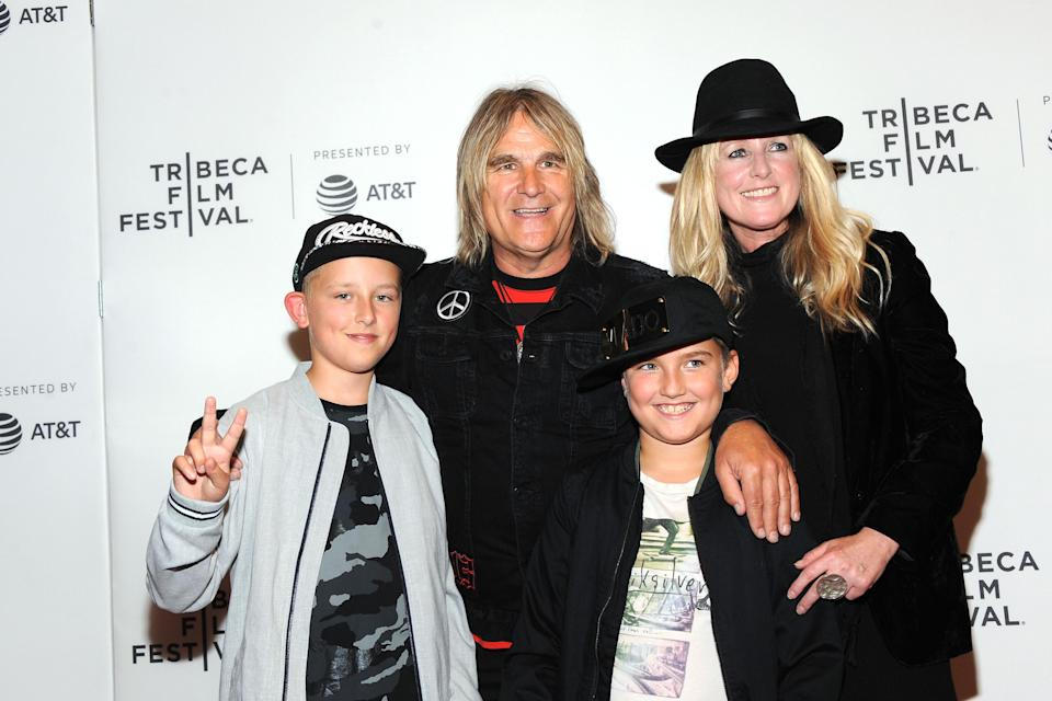 Mike and Jules Peters with their children Evan and Dylan