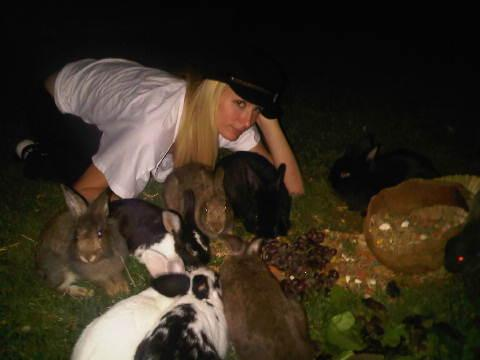 """Animal lover Paris Hilton added 20 new bunnies to her menagerie this week. After learning that a pet store was going to use them as food for snakes, the 29-year-old hotel heiress decided to take action. """"I had to save them, """" she said. """"I rescued 20 of them. They are now happy living in my backyard. They are all so happy, so nice to have changed their fate."""" TwitPic"""