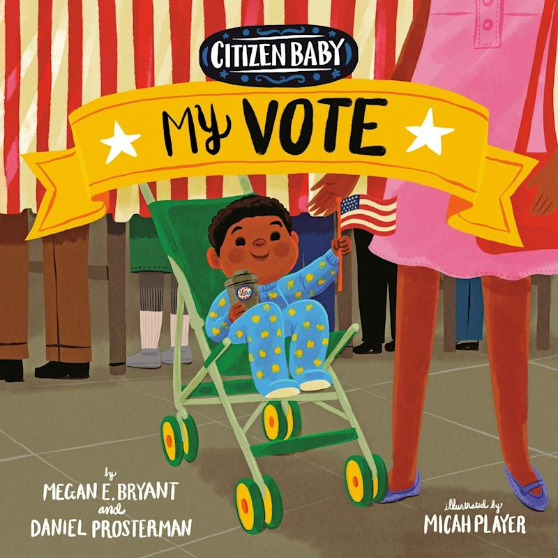 """In this installment in the """"Citizen Baby"""" story, the protagonist learns about political candidates, campaigning, voting and more. <i>(Available <a href=""""https://www.amazon.com/Citizen-Baby-Vote-Megan-Bryant/dp/1524793124"""" target=""""_blank"""" rel=""""noopener noreferrer"""">here</a>)</i>"""