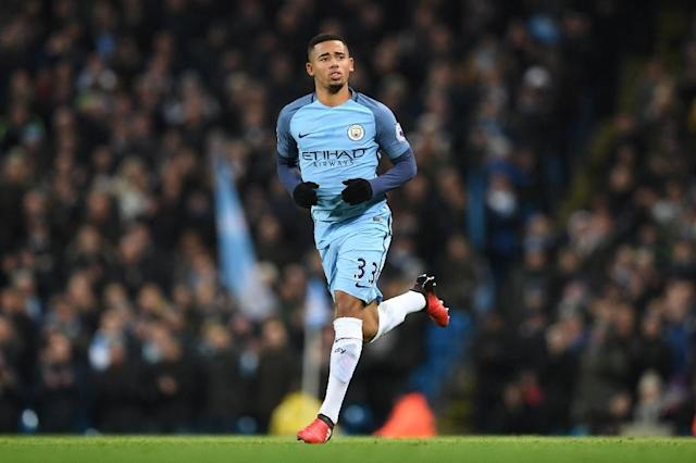 Manchester City's Brazilian striker Gabriel Jesus comes on to make his debut during the English Premier League match between Manchester City and Tottenham Hotspur at the Etihad Stadium in Manchester, on January 21, 2017 (AFP Photo/Paul ELLIS)