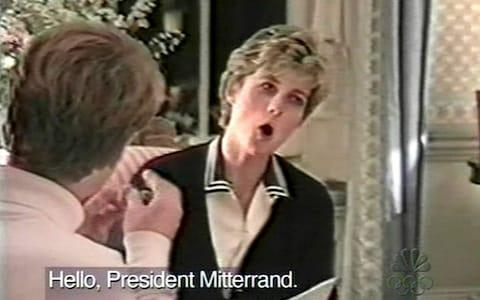 The late Diana, Princess of Wales, practising her speech