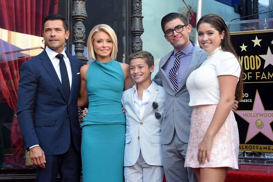 Kelly Ripa and Mark Consuelos with children   Axelle/Bauer-Griffin/FilmMagic