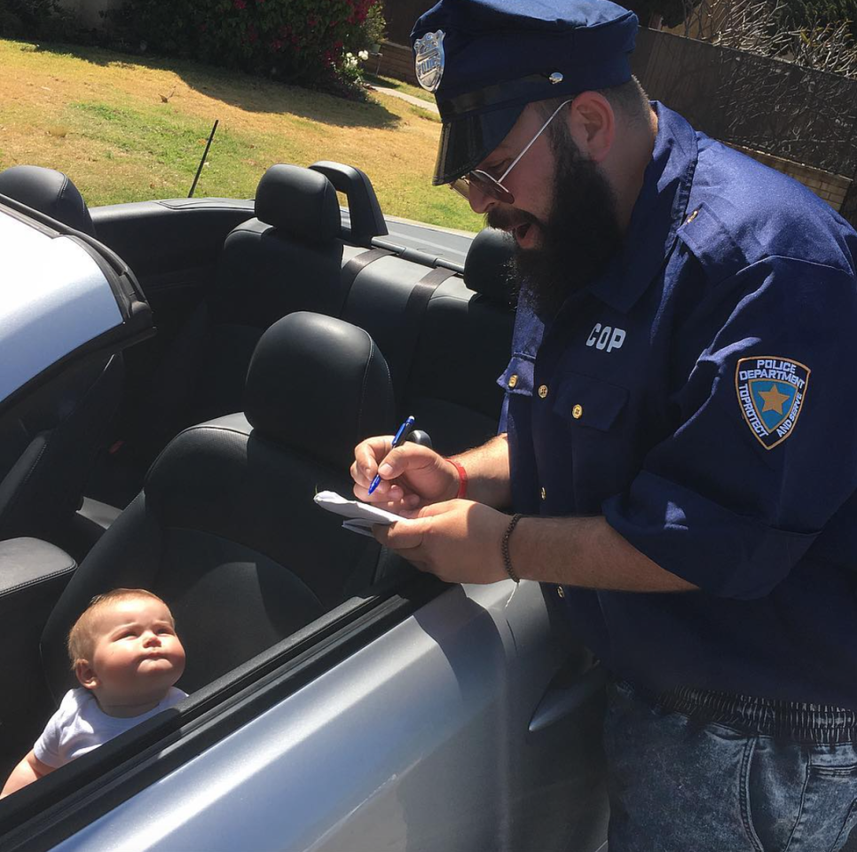 <p>License and registration please. <i>(Photo: Instagram/sbsolly)</i> </p>