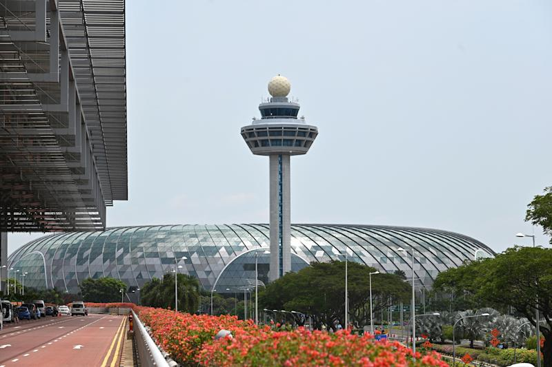 The control tower of Changi International Airport in Singapore