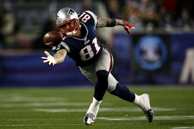 Aaron Hernandez, the former New England Patriots player who committed suicide in prison in 2017 at age 27, had the most severe case of CTE found in any person his age (AFP Photo/ELSA)