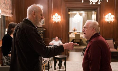 Succession<br>After hearing Logan's plan to expand in to local TV, Kendall begins to plot a vote of no confidence against his father. Greg drives his ornery grandfather Ewan from Canada to New York for a Thanksgiving reunion with Logan. Tom grows increasingly concerned about the terms of his prenuptial agreement with Shiv, and recruits Greg for a clandestine task. The family is surprised by Connor's choice of date at Thanksgiving dinner.