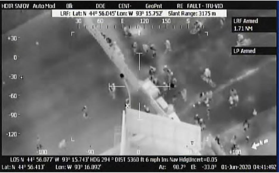 According to a report from the Air Force Inspector General, the National Guard flew surveillance flights in June over California, Minneapolis, Phoenix, and Washington D.C. during Black Lives Matter protests. (Air Force Inspector General's Office)