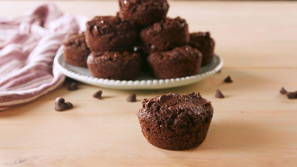 """<p>What do you do when you love chocolate? Double it.</p><p>Get the recipe from <a href=""""https://www.delish.com/cooking/recipe-ideas/a22578084/keto-double-chocolate-muffins-recipe/"""" rel=""""nofollow noopener"""" target=""""_blank"""" data-ylk=""""slk:Delish"""" class=""""link rapid-noclick-resp"""">Delish</a>.</p>"""