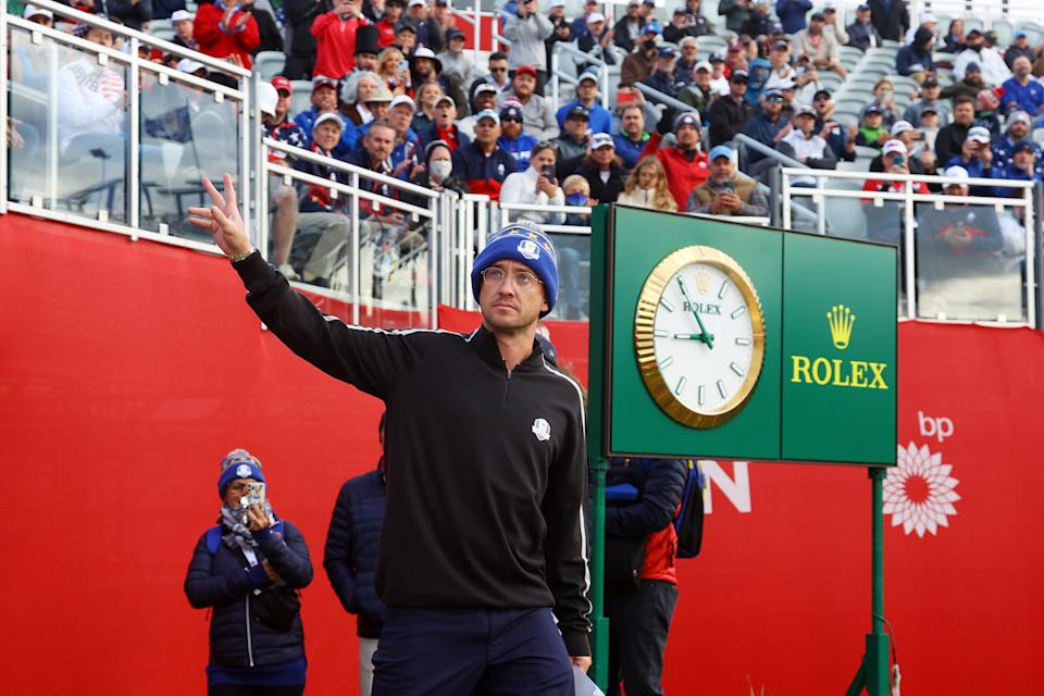 Harry Potter actor Tom Felton at the 2021 Ryder Cup
