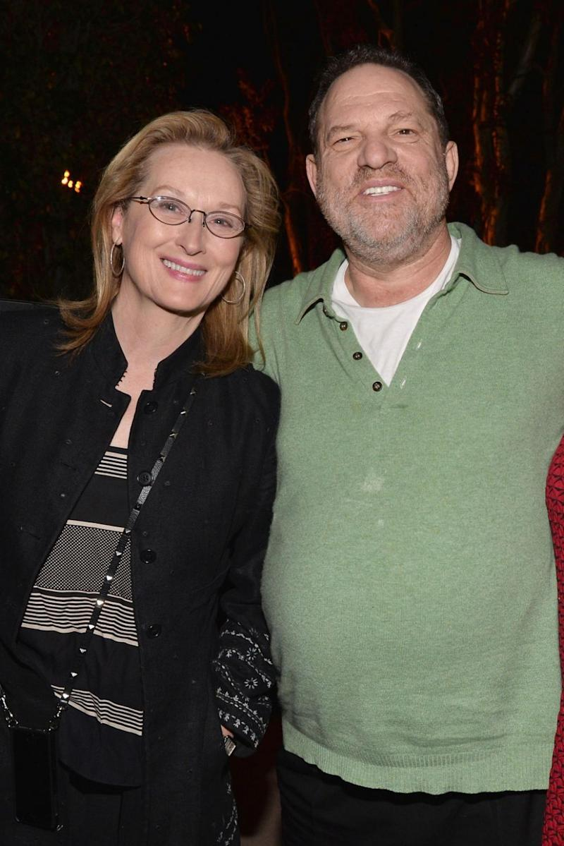 Meryl seen here with Weinstein 2014, before he was accused of sexual abuse. Source: Getty