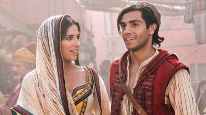 Massoud with Naomi Scott in Aladdin (Credit: Disney)