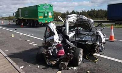 Driver's 'Extremely Lucky' Escape From Lorry