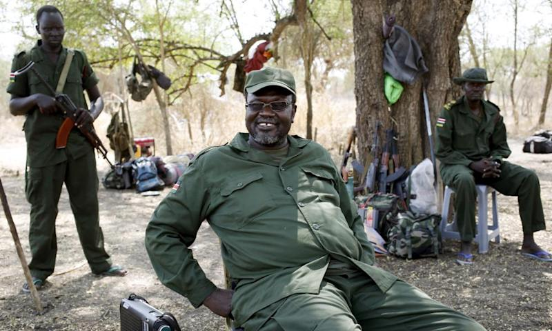 Riek Machar, South Sudan's former vice-president and now rebel leader