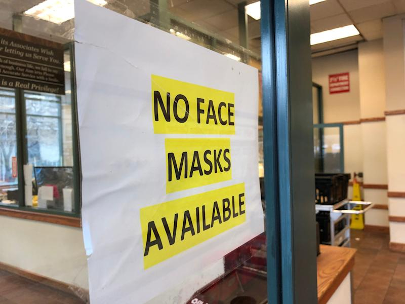 A sign outside the Hoboken ShopRite on Thursday morning, March 11, during the coronavirus outbreak.