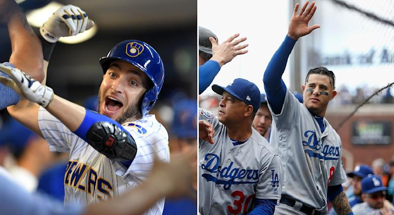 The Milwaukee Brewers and Los Angeles Dodgers have a chance at division championships on Sunday. More