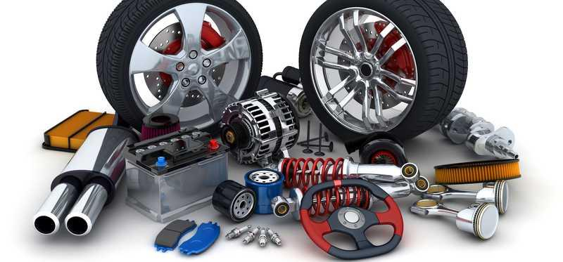A selection of auto parts accessories.