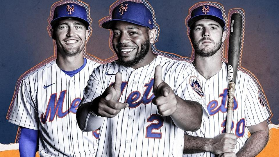 Brandon Nimmo, Dom Smith, and Pete Alonso TREATED ART