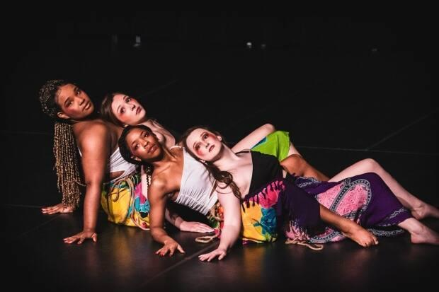 Reequal Smith, 3rd from left, seen here with some of the dancers with her company, Oshun Dance Studios. (Submitted by Reequal Smith - image credit)