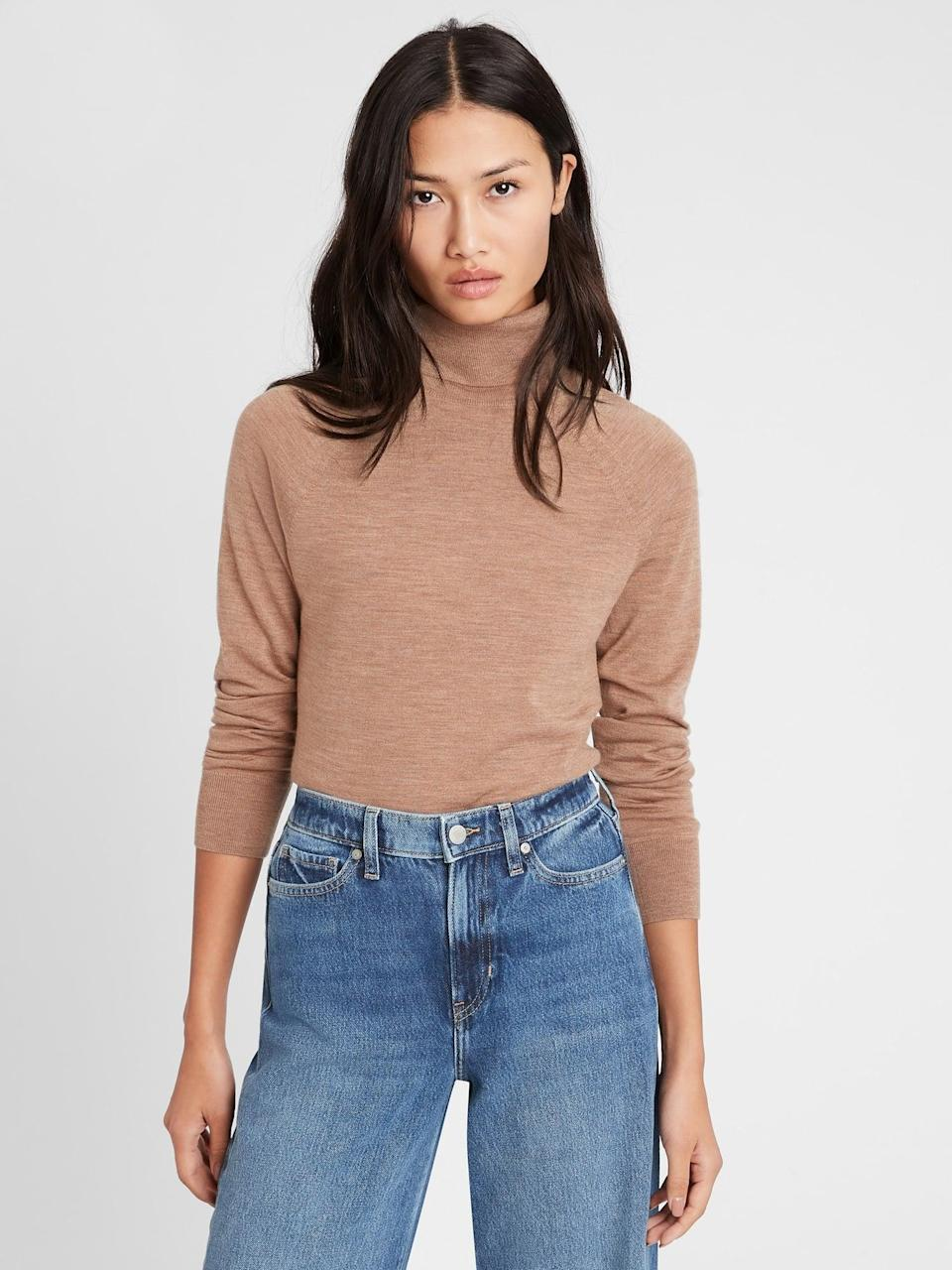 <p>This <span>Banana Republic Merino Turtleneck Sweater in Responsible Wool in Camel</span> ($47, originally $80) is an elegant addition to your wardrobe that should last you for years to come.</p>