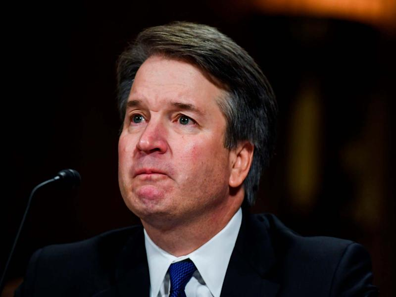 Brett Kavanaugh denies allegations of sexual assault before the Senate Judiciary Committee in Washington: AFP/Getty Images