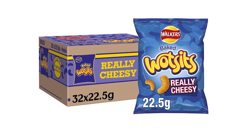 Case of 32 Walkers Crisps Wotsits