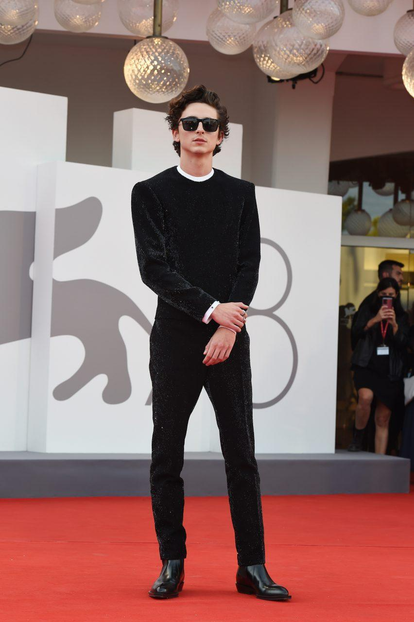 VENICE, ITALY - SEPTEMBER 03: Timothée Chalamet attends the red carpet of the movie 'Dune' during the 78th Venice International Film Festival on September 03, 2021 in Venice, Italy. (Photo by Stefania D'Alessandro/Getty Images)