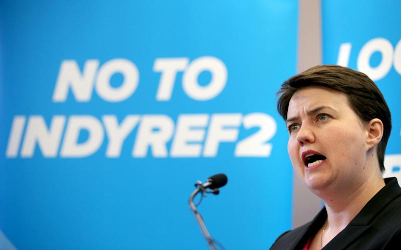 Ruth Davidson is campaigning against a second independence referendum - Credit: PA