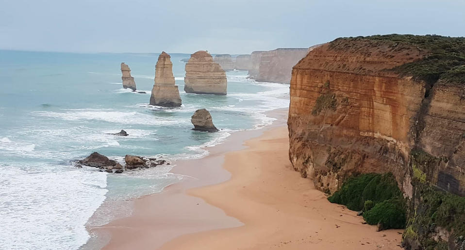 Sections of the road near the Twelve Apostles visitor centre at Port Campbell have been temporarily reduced to 20km/h. Source: Melissa Buttigieg